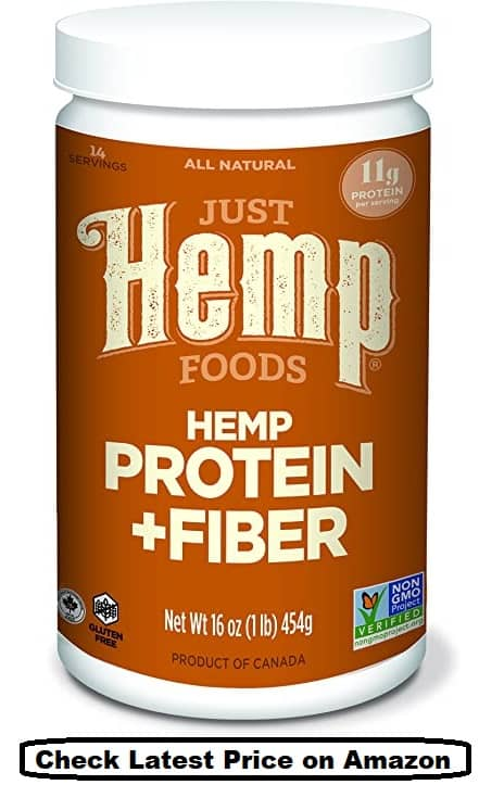 Just Hemp Foods Hemp Protein Powder Plus Fiber