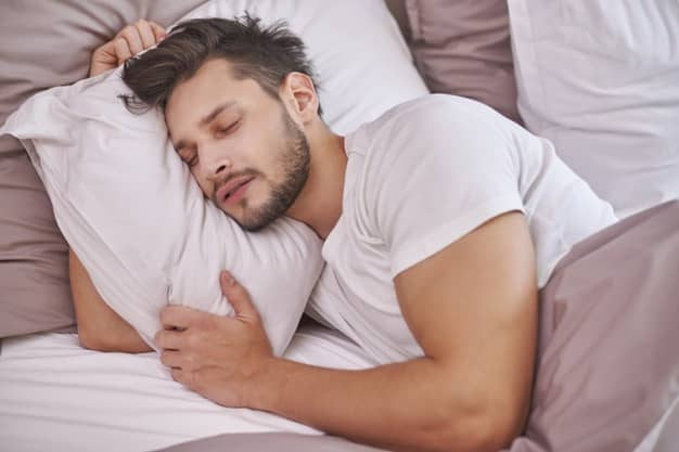 exhausted man Sleep and muscle recovery