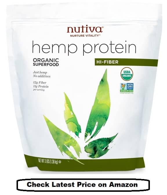 Nutiva Cold-Pressed Raw Hemp Seed Protein Powder